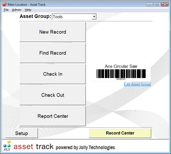 Asset management software for Asset database management and asset tracking. well known Screen Shot