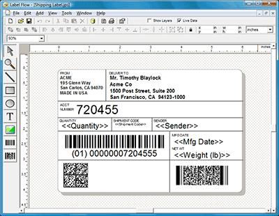 Click to view Label Flow Barcode Labeling Software 6.0 screenshot