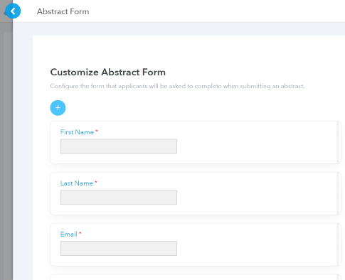Customize Abstract Form