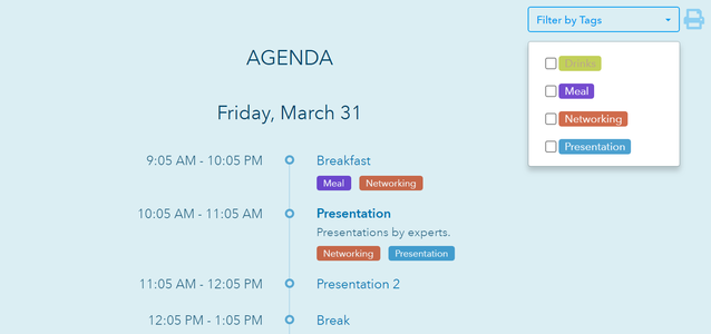 Create an Event Agenda