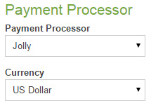 Choose Currency and Processor