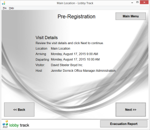 Pre-register Visitors