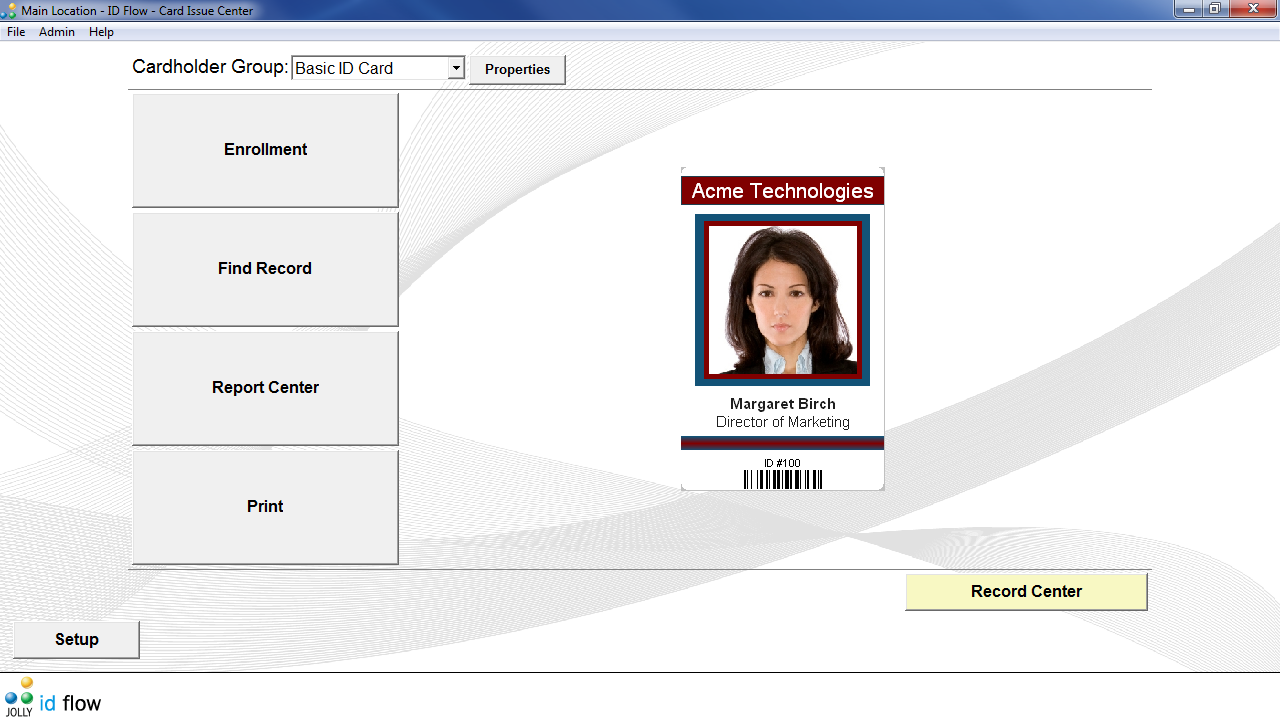 ID Flow Free ID Card Software Screen shot