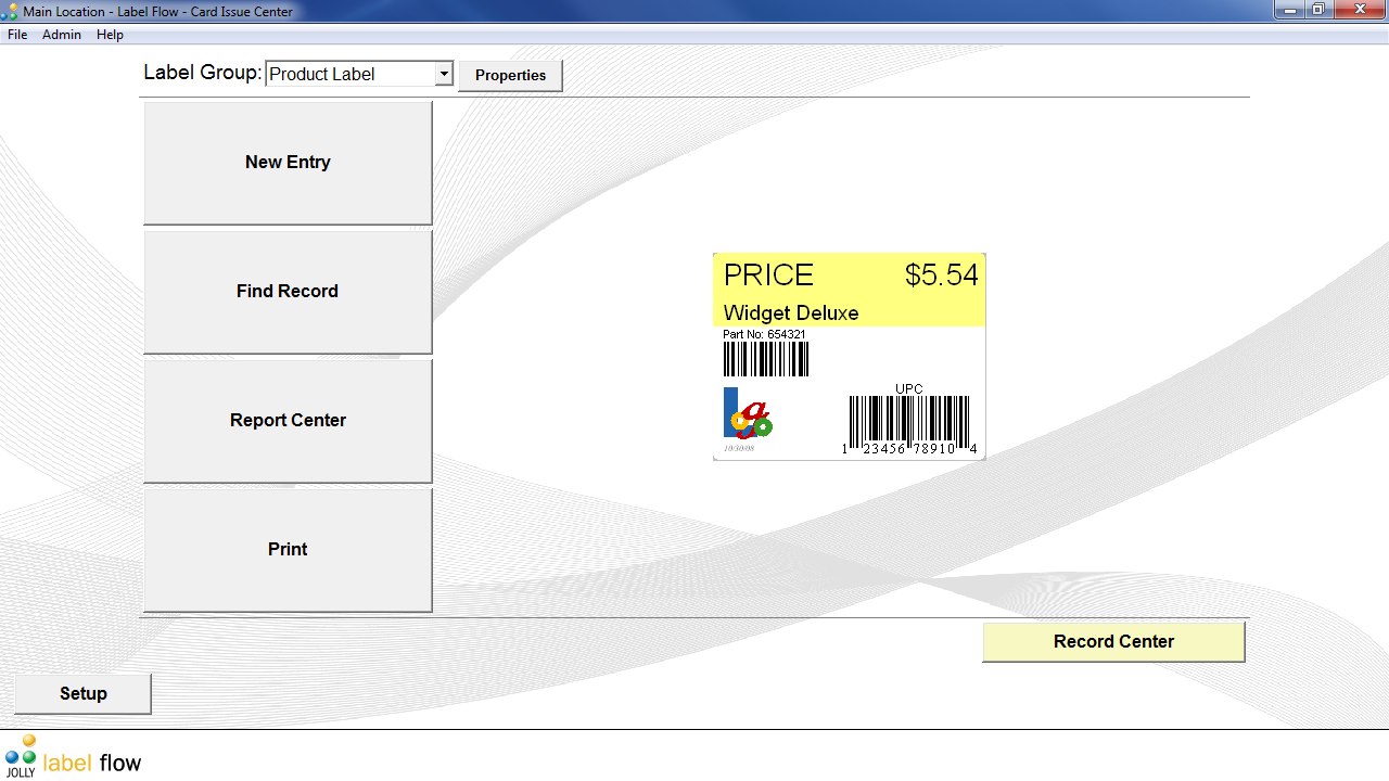 Label Flow Free Barcode Software Screen shot