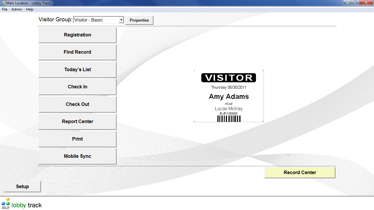 Register and manage visitors