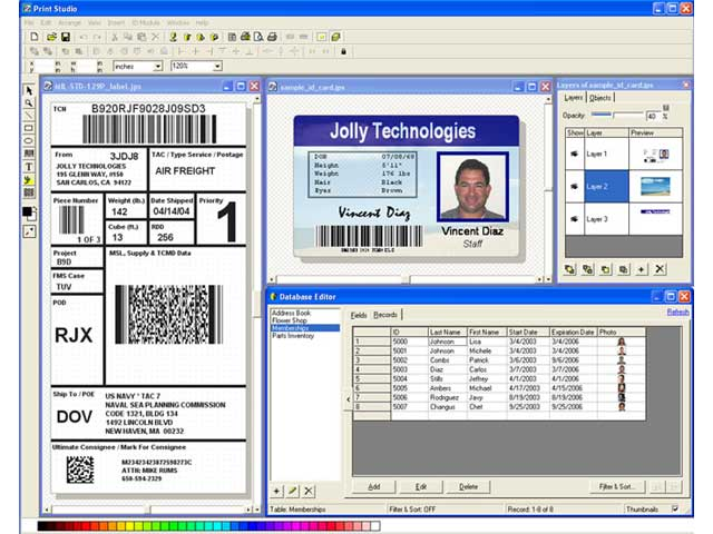 Print Studio ID Badge Maker Software